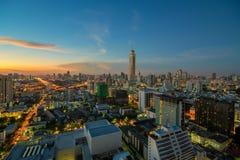 Bangkok city night view with nice sky Stock Photography