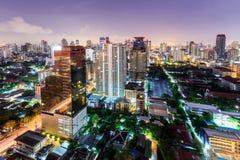 Bangkok city night view with nice sky,Bangkok,Thailand Royalty Free Stock Images