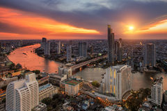 Bangkok city night view Stock Photography