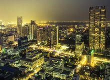 Bangkok city night view Royalty Free Stock Photo