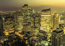 Bangkok city night view Stock Image
