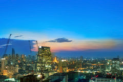 Bangkok city night view, Thailand Royalty Free Stock Photo