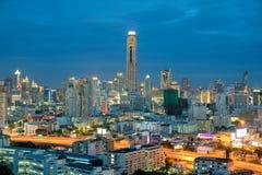Bangkok city in night view, Thailand Royalty Free Stock Photo