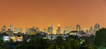Bangkok city panorama Royalty Free Stock Image