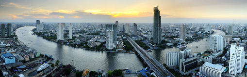 Bangkok city panoramic Stock Photography