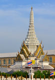 Bangkok city pillar shrine. And blue clear sky Royalty Free Stock Photography