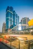 Bangkok city - Public skywalk in business Area Royalty Free Stock Photos