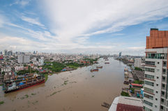 Bangkok city of river Stock Photo