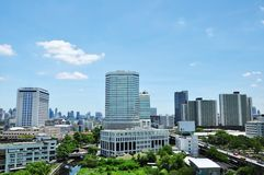 Bangkok city scape. City scape around Rama 9 area in bangkok thailand Royalty Free Stock Photos