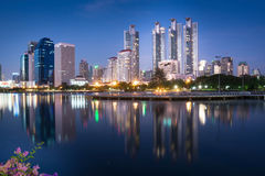 Bangkok city scape at night Stock Images
