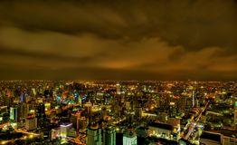 Bangkok City skyline at night Royalty Free Stock Photography