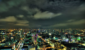 Bangkok City skyline at night Royalty Free Stock Images