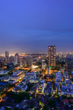 Bangkok city skyline. Bangkok city in night time Royalty Free Stock Photography