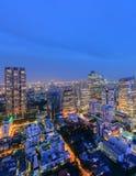 Bangkok city skyline. Bangkok city in night time Stock Photography