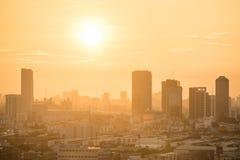 Bangkok city skyline at sunrise Stock Photos