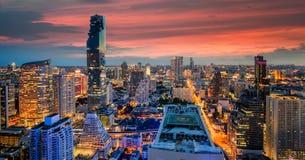 Bangkok city at sunset Royalty Free Stock Images