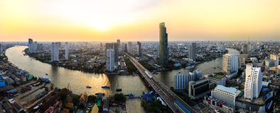 Bangkok city at sunset Royalty Free Stock Photos