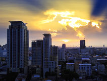 Bangkok city at sunset Royalty Free Stock Photography