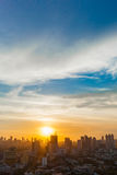 Bangkok city sunset view, Thailand Royalty Free Stock Image