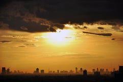 Bangkok city - Thailand. Sunset above Bangkok city - Thailand Stock Photography