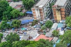 Bangkok City, Thailand 31 Jul 2015,Workers' houses in Bangkok th Royalty Free Stock Images