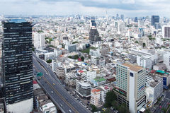 Bangkok City top view. With expressway Stock Photography