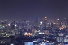 Bangkok city top view at night Stock Photography