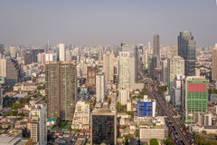 Bangkok city top view panorama with skyscrapers Stock Image