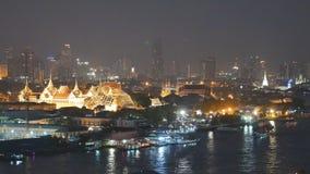 Bangkok City With Transportation In Chaopraya River stock footage