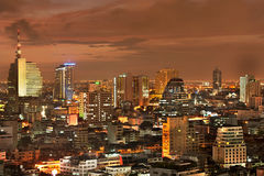 Bangkok city at twilight Royalty Free Stock Images