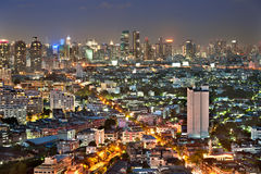 Bangkok city at twilight Stock Images