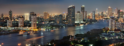 Bangkok city at twilight Royalty Free Stock Photography