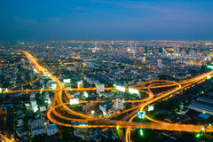 Bangkok city at twilight Stock Image