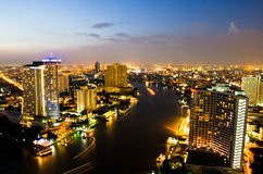 Bangkok City in twilight, Thailand. Stock Image