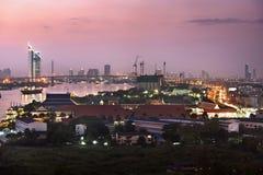 Bangkok city at twilight Royalty Free Stock Photos