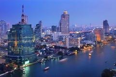 Bangkok city at twilight Stock Photo