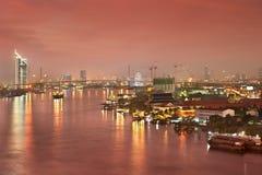 Bangkok city at twilight Royalty Free Stock Images
