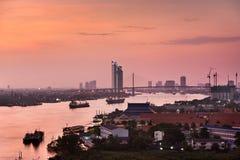 Bangkok city at twilight Stock Photos