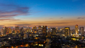 Bangkok city twilight view, Thailand Stock Photography
