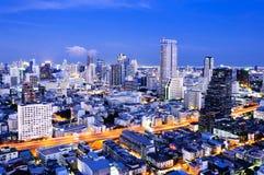 Bangkok city. Urban City Skyline at night, Bangkok Thailand Royalty Free Stock Image