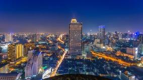Bangkok city view from above, Thailand. Royalty Free Stock Image