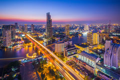 Bangkok city view from above, Thailand. Royalty Free Stock Image