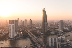 Bangkok city view from above, Thailand. Royalty Free Stock Photography