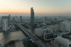 Bangkok city view from above, Thailand. Stock Photos