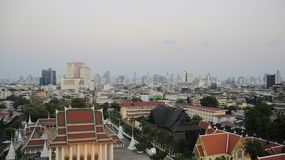 Bangkok City View And Air Quality. Smog  Cover Bangkok. Pollution. Bangkok sky view. Bangkok the capital of Thailand covered with smog. dirty and smoker air stock image