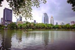 Bangkok city view with Garden Royalty Free Stock Photography