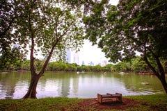 Bangkok city view with Garden Stock Photography