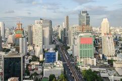 Bangkok city view with main traffic Royalty Free Stock Photo