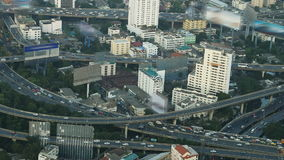 Bangkok city view with main traffic, Thailand stock footage