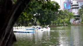 Bangkok city view. Public Garden park stock footage